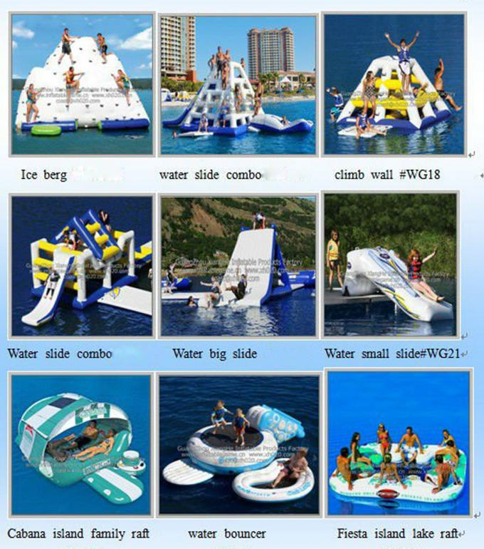 Hot air welded Aquaglide Jungle Joe 2 / Inflatable Water Toys For Water Park