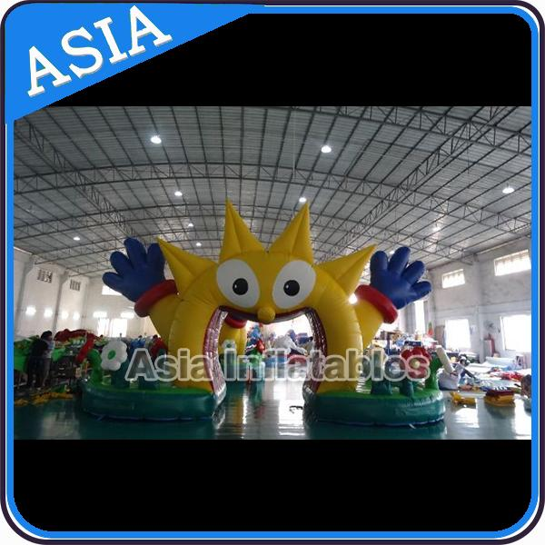 Ce Certificated Blue Inflatable Gate , Advertising Inflatable