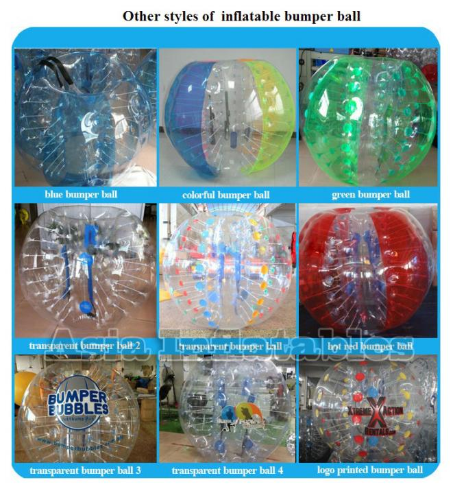 Commercial Inflatable Bubble Football Colored For Rental Business