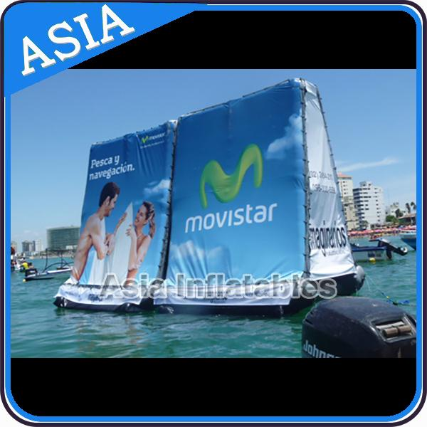 PVC Inflatable Billboard , Advertising Inflatables Water Billboard