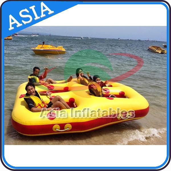 4 Seats Bali Rolling Donut Inflatable Boats Rider For Water Sport Games