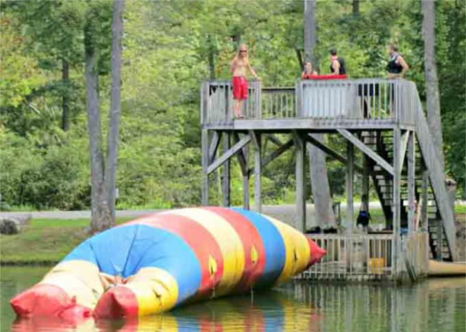 Floating Inflatable Water Trampolines , Lake Inflatable Water Blob 0