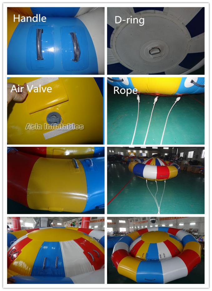 8-10 Person Inflatable Disco Boat Motorized Toys Semi Boat, Water Spinner Gyro