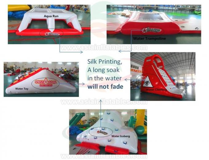 Commercial Grade Inflatable Water Park CablePark Sport Equipment with Slide Game