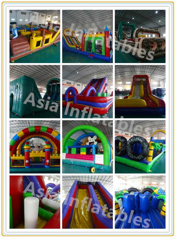 Fire - Proof Inflatable 5k Obstacle Course With 2 Years Warranty
