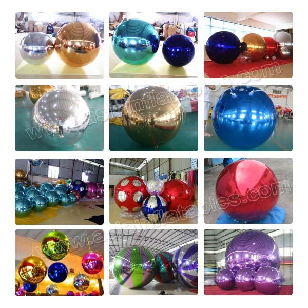 2m Silver Helium Balloon And Blimps Stage Decoration Ball For Fashion Show