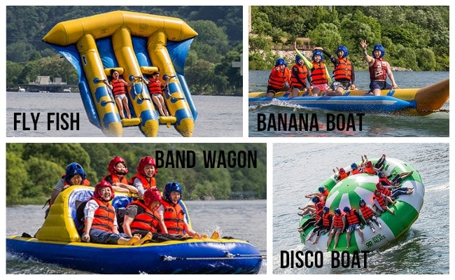 Digital Printing Turntable Inflatables Spinning Boat , 8 Person Towable Tube