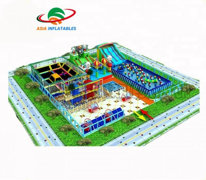 Safety Outdoor Playground Inflatable Water Parks For Adult And Kids / Aqua Park Equipment