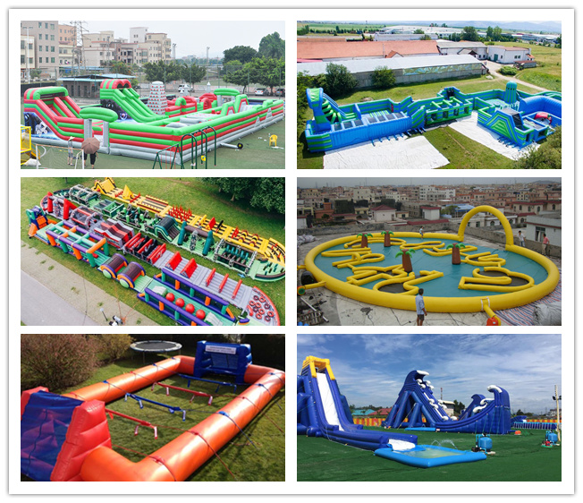 Durable 0.55mm PVC Inflatable Fun Park For Child Leadfree Water Resistant 0