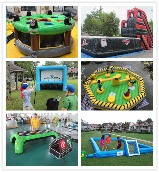 Giant Human Inflatable Sports Games / Whack A Mole Kids Game