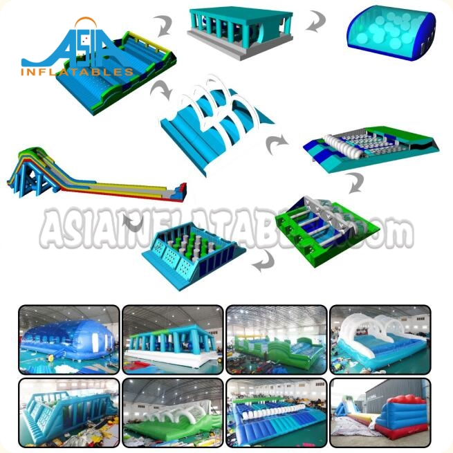 Custom Adult Inflatable Obstacle Challenges / Inflatable 5k Obstacle Run