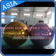 China Inflatable Helium Advertising Mirror Balloon / Giant Inflatable Mirror Ball Ground factory