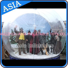 China Airblown Yard Inflatable Bubble Tent Decoration , Inflatable Christmas Snow Globe factory