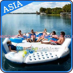 China 0.9mm Durable PVC Tarpaulin Inflatable Island Floating Lounge factory