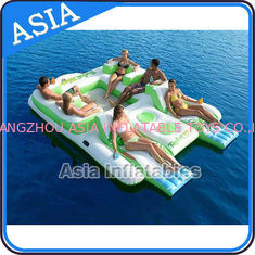 China Capacity 6 Persons Inflatable Island Floating Lounge Inflatable Water Lounge factory