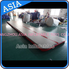 China Sealed 10mL Gym Inflatable Tumble Air Mattress In Red and Gray factory