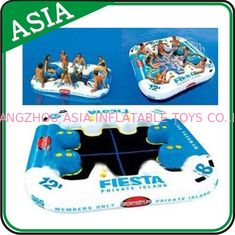 China Party Inflatable Floating Island For Beach Vacation , Inflatable Lounge For Lake supplier