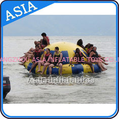 China Hot Welding Yellow 12 Person Inflatable Disco Boat For Towable Water Games supplier