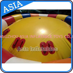 China Hot Welding Yellow 12 Person Inflatable Disco Boat For Towable Water Games factory