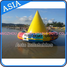 China UL Approval 4m Floating Spin Inflatable Boats / Water Discoboat For Water Game factory