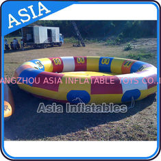 China Waterproof 10 Person Round / Disc Inflatable Disco Boat Hot Welding With Blowers factory