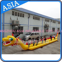China Yellow Dragon Banana Shaped Inflatable Boats 12 Person Water Sport Games For Adult factory