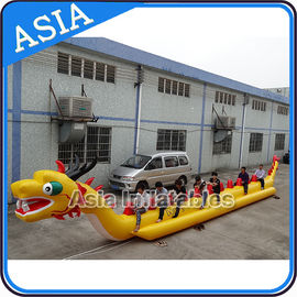 China Yellow Dragon Banana Shaped Inflatable Boats 12 Person Water Sport Games For Adult supplier