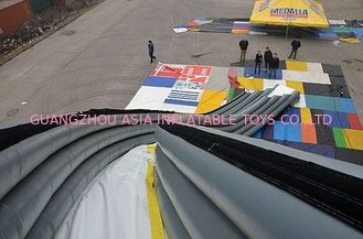 China Inflatable Curved Yacht Slide, Inflatable Water Sports Games factory