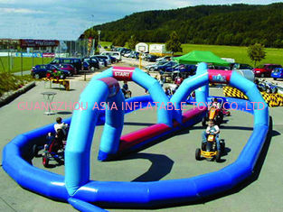 China Giant Cricket Inflatable Zorb Ball Track For Outdoor Kindergarten factory