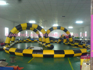 China Simple Design Inflatable Race Track, Inflatable Go Kart Track, Inflatable Karting Track for Zorb Ball factory