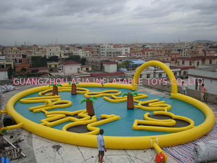 China Circular Inflatable Race Track for Zorb Ball Play factory