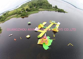 China Floating Inflatable Water Games / Inflatable Aqua Park With Digital Printing factory