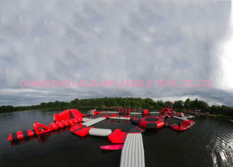 China Exciting Fireproof Inflatable Floating Island Water Park Game For Adults factory