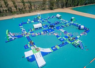 China Open Water Inflatable Aqutic Sports Park With 0.9mm PVC Tarpaulin factory