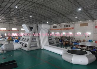 China Amercian Customized Water Park Combo Inflatable , Inflatable Big Slide Park factory