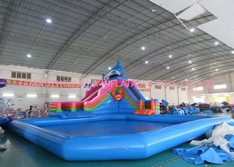 Sea World Theme Water Park Inflatable , Inflatable Water Park with Pool and Slide