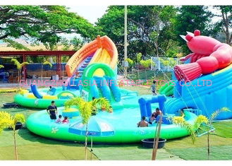 Mobile Thailand Project Inflatable Water Parks With Slide Puncture-proof