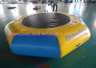 China Commercial Water Games Inflatable Crocodile Water Trampoline With 0.9mm Pvc Tarpaulin factory