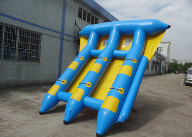 China 4-6 Passangers InflatableTowable Sport Games/ Fly Fishing Boat Fish Raft Boat factory