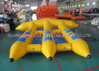 4 Riders Hot Air Welded Colorful Inflatable Flying Fish Towable Tube for Adults