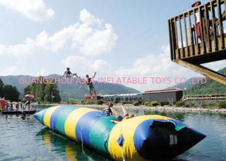 China Floating Inflatable Water Trampolines , Lake Inflatable Water Blob factory