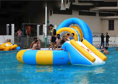 China 14' Aquaglide Platinum Supertramp Water Trampoline For Summer , Inflatable Water Games factory