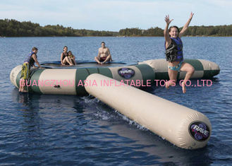 China Strong Inflatable Water Trampoline Combo With Slide , Inflatable Water Games supplier