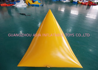 China Triangle Shape Yacht Race Market Inflatable Buoys For Water Triathlons Advertising factory