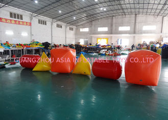China Triangle ,  Cube Shape and Cylinder shape of Inflatable Buoy On Sale For Water Games factory
