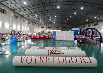 China Inflatable Promoting Strip Buoy For Ocean Or Lake Advertising , Inflatable tube buoys factory