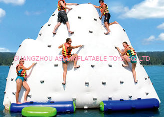 China 6m Inflatable floating iceberg, water climbing hill, inflatable water sport toys factory