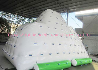 White Inflatable Water Sports , 3 Sides Inflatable Iceberg For Water Sport