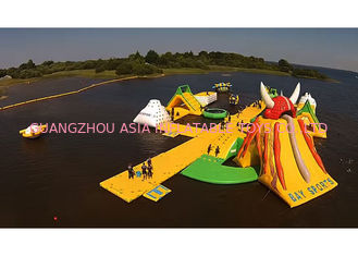 China 30m × 40m Giant Inflatable Water Park For Children With Customized Logo factory