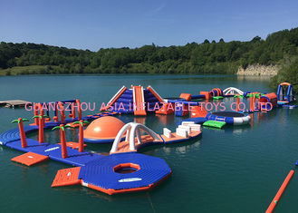 China 3 Layers Leak - Proof Inflatable Water Park Equipment With Slide Game factory
